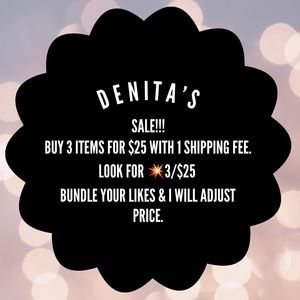 Other - 💥3/$25 🌟✨DENITA'S CLOSET CLEAN OUT✨🌟
